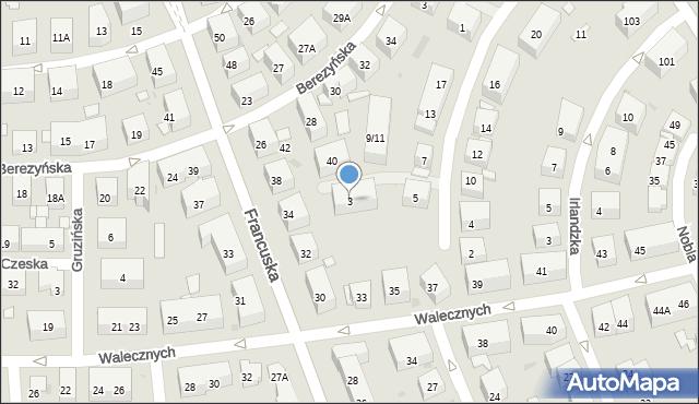 Warszawa, Dąbrówki, 3, mapa Warszawy