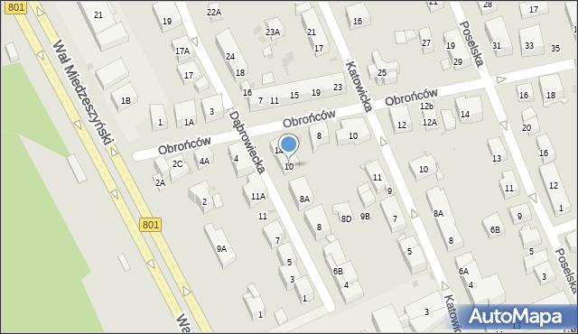 Warszawa, Dąbrowiecka, 10, mapa Warszawy