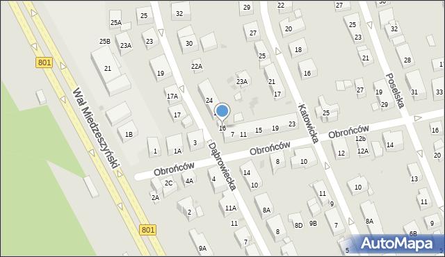 Warszawa, Dąbrowiecka, 16, mapa Warszawy