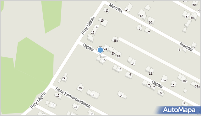 Zabrze, Dąbka Stanisława, gen., 17, mapa Zabrza