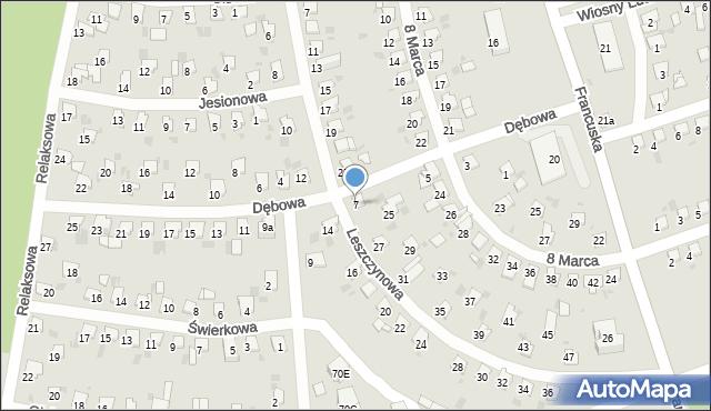 Bytom, Dębowa, 7, mapa Bytomia