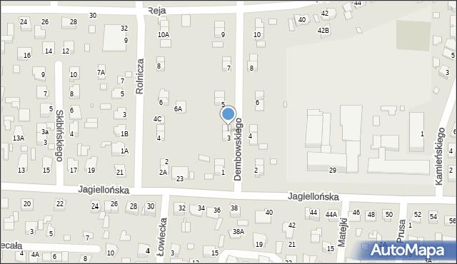 Chełm, Dembowskiego Edwarda, 3A, mapa Chełma