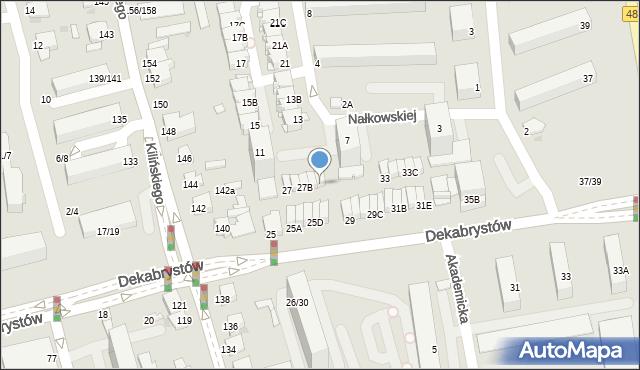 Częstochowa, Dekabrystów, 27D, mapa Częstochowy