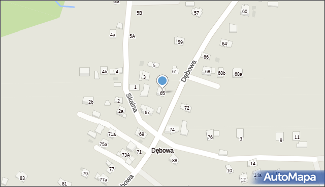 Dobczyce, Dębowa, 65, mapa Dobczyce