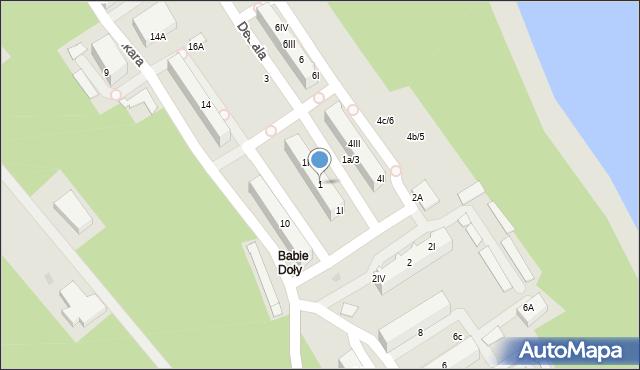 Gdynia, Dedala, 1, mapa Gdyni