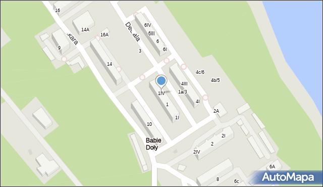 Gdynia, Dedala, 1IV, mapa Gdyni