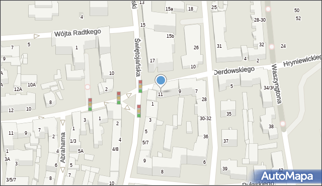 Gdynia, Derdowskiego Hieronima, 11, mapa Gdyni