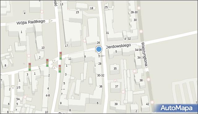 Gdynia, Derdowskiego Hieronima, 7, mapa Gdyni