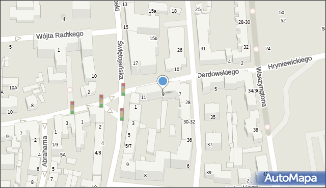 Gdynia, Derdowskiego Hieronima, 9, mapa Gdyni
