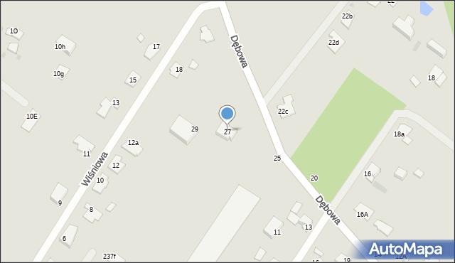 Grudziądz, Dębowa, 27, mapa Grudziądza