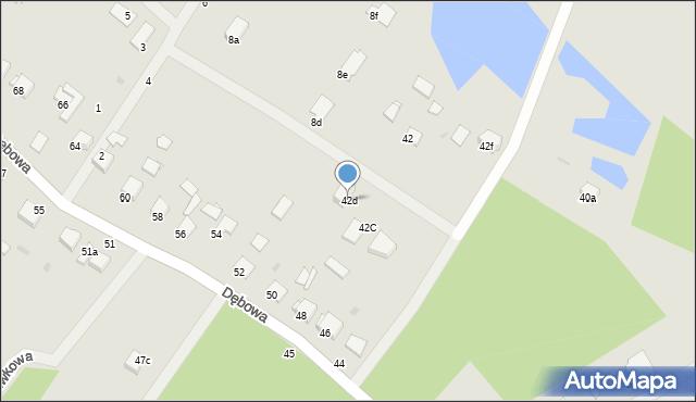 Grudziądz, Dębowa, 42d, mapa Grudziądza