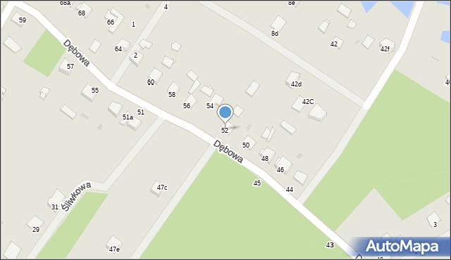 Grudziądz, Dębowa, 52, mapa Grudziądza