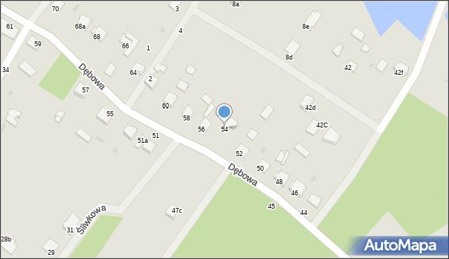 Grudziądz, Dębowa, 54, mapa Grudziądza