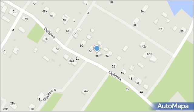 Grudziądz, Dębowa, 56, mapa Grudziądza