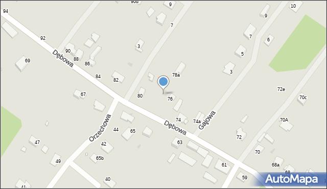 Grudziądz, Dębowa, 78, mapa Grudziądza