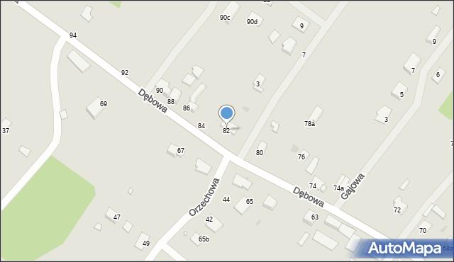 Grudziądz, Dębowa, 82, mapa Grudziądza