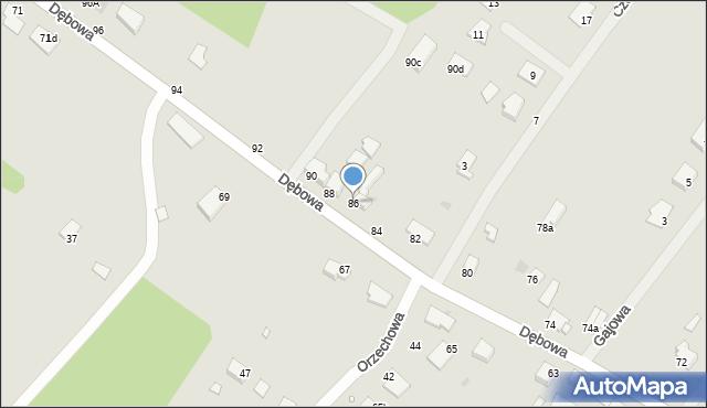 Grudziądz, Dębowa, 86, mapa Grudziądza