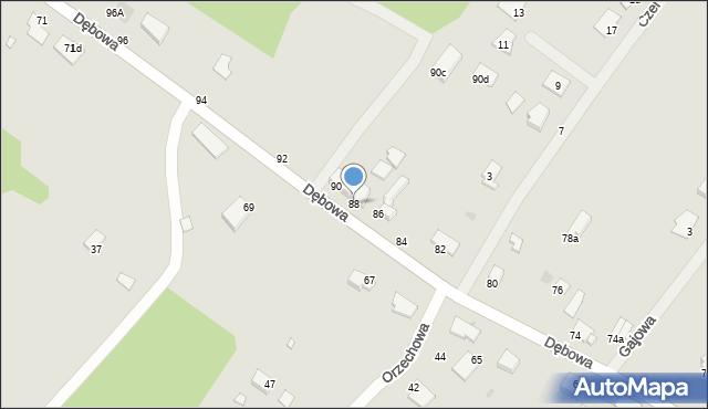 Grudziądz, Dębowa, 88, mapa Grudziądza