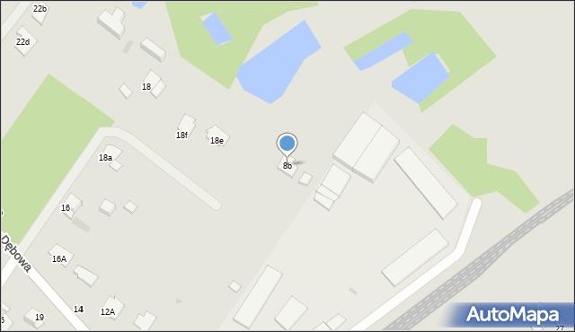 Grudziądz, Dębowa, 8b, mapa Grudziądza