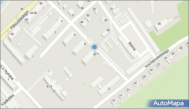 Grudziądz, Derdowskiego, 10, mapa Grudziądza