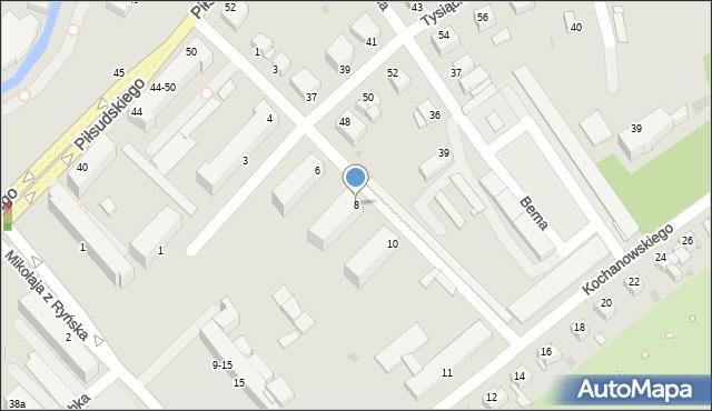 Grudziądz, Derdowskiego, 8, mapa Grudziądza