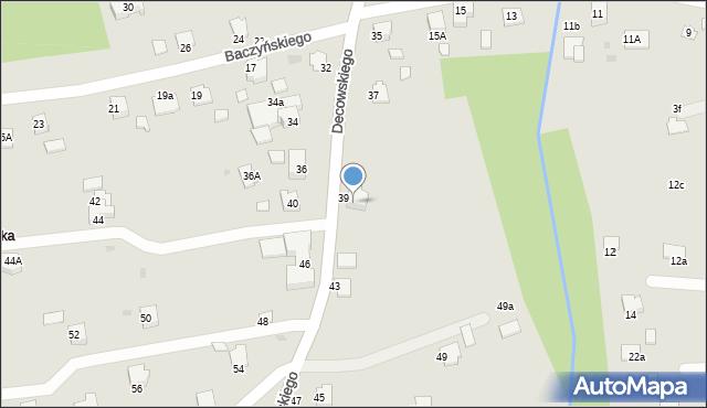 Krosno, Decowskiego Stanisława, ks., 41, mapa Krosna