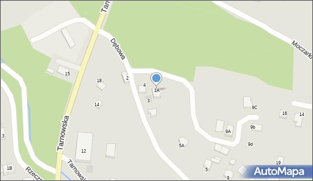 Limanowa, Dębowa, 1A, mapa Limanowa