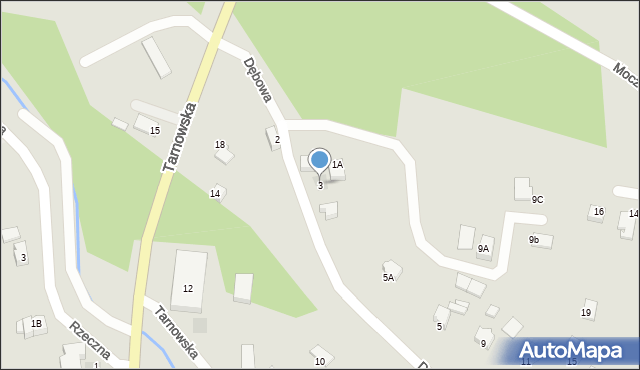 Limanowa, Dębowa, 3, mapa Limanowa