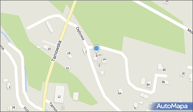 Limanowa, Dębowa, 4, mapa Limanowa