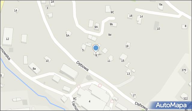 Limanowa, Dębowa, 9, mapa Limanowa