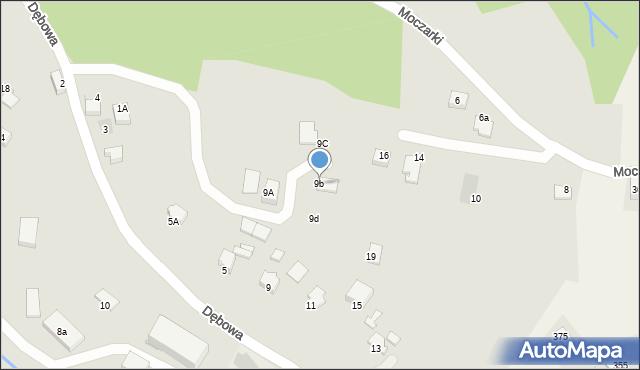 Limanowa, Dębowa, 9b, mapa Limanowa