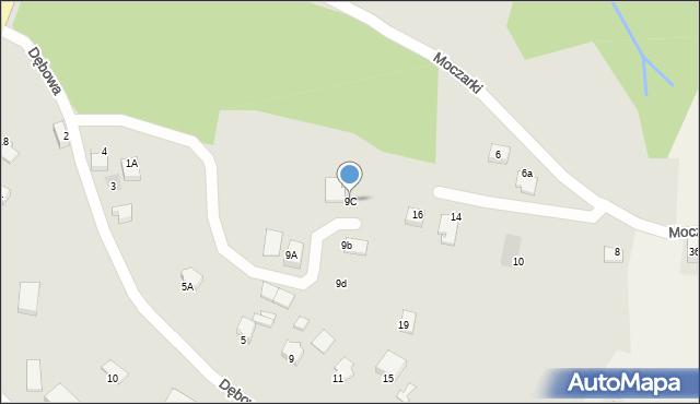 Limanowa, Dębowa, 9C, mapa Limanowa