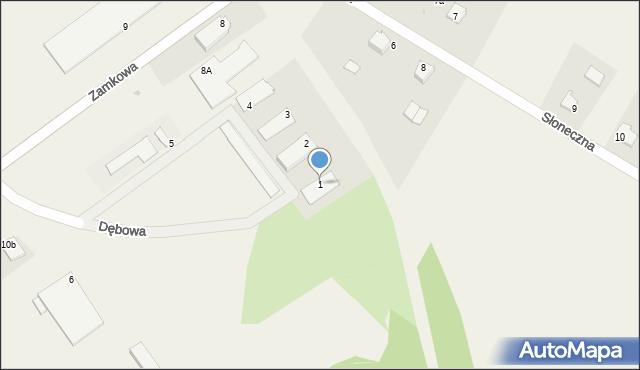 Małdyty, Dębowa, 1, mapa Małdyty