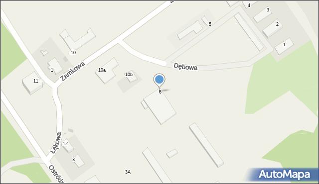 Małdyty, Dębowa, 6, mapa Małdyty