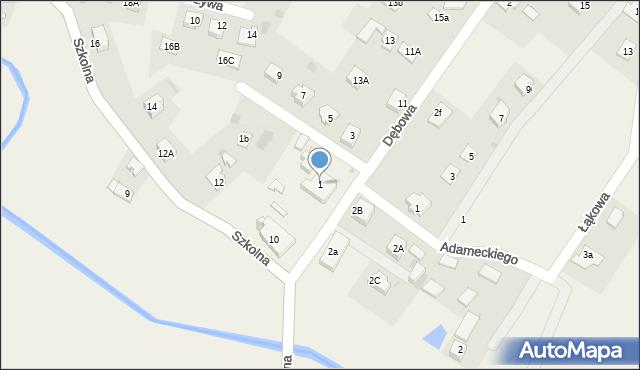 Marklowice Górne, Dębowa, 1, mapa Marklowice Górne