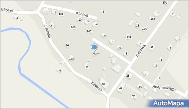 Marklowice Górne, Dębowa, 1b, mapa Marklowice Górne