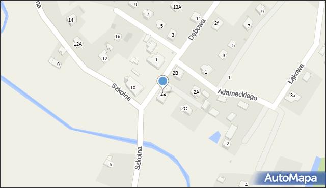 Marklowice Górne, Dębowa, 2a, mapa Marklowice Górne