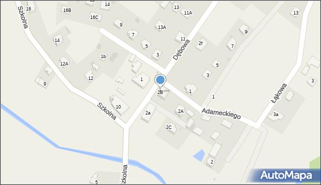 Marklowice Górne, Dębowa, 2B, mapa Marklowice Górne