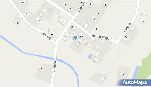 Marklowice Górne, Dębowa, 2C, mapa Marklowice Górne