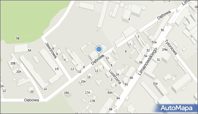 Radom, Dębowa, 6, mapa Radomia