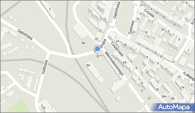 Sosnowiec, Dęblińska, 6, mapa Sosnowca