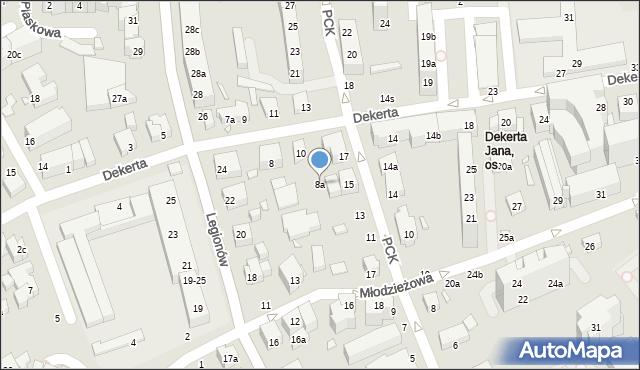 Toruń, Dekerta Jana, 8a, mapa Torunia