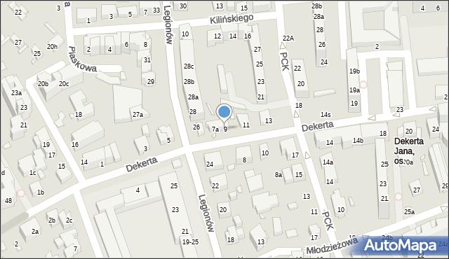 Toruń, Dekerta Jana, 9, mapa Torunia