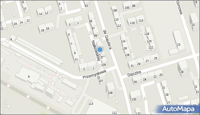 Zabrze, de Gaulle'a Charlesa, gen., 103, mapa Zabrza