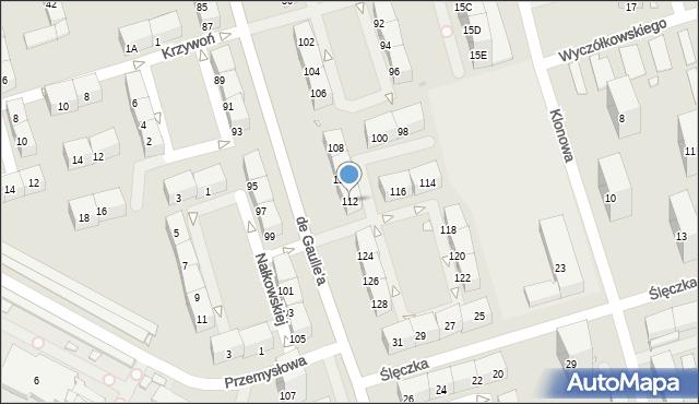 Zabrze, de Gaulle'a Charlesa, gen., 112, mapa Zabrza