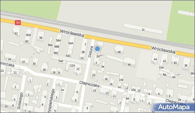 Bytom, Didura Adama, 1A, mapa Bytomia