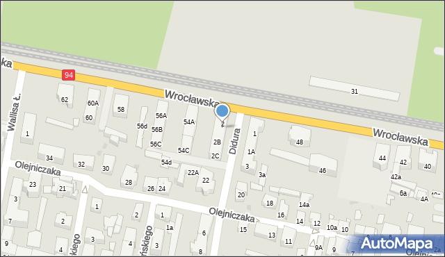 Bytom, Didura Adama, 2A, mapa Bytomia