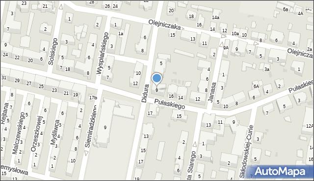 Bytom, Didura Adama, 9, mapa Bytomia