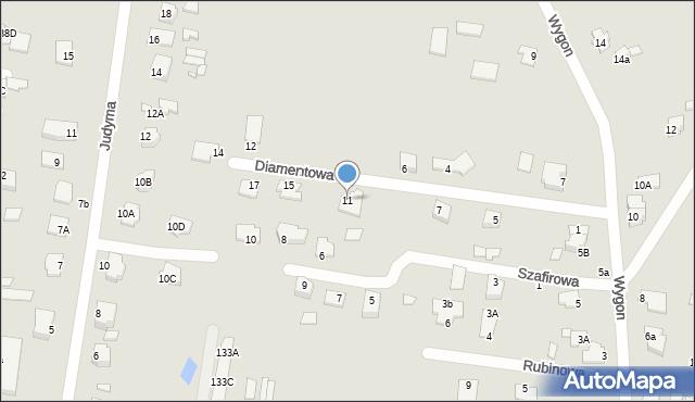 Chełm, Diamentowa, 11, mapa Chełma