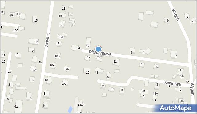 Chełm, Diamentowa, 15, mapa Chełma